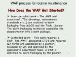 how does the waf get started