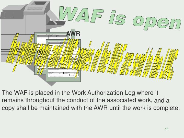 WAF is open
