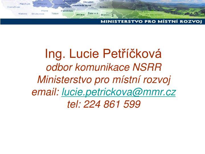 Ing. Lucie Petříčková