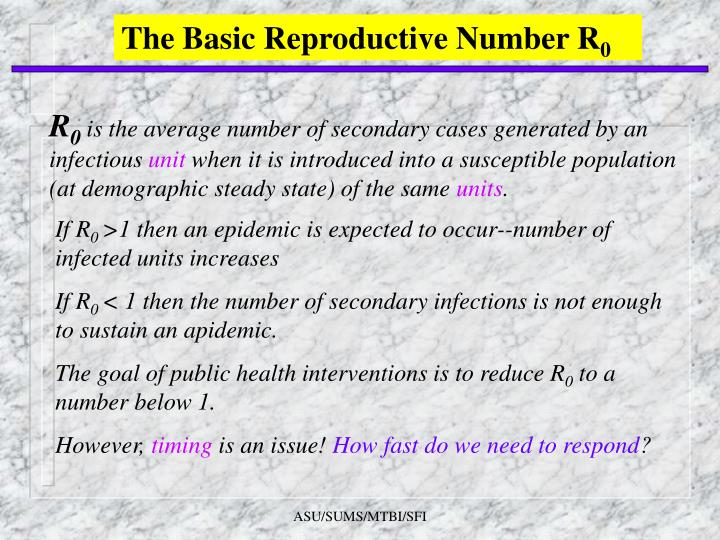 The Basic Reproductive Number R