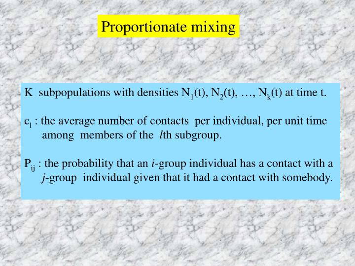 Proportionate mixing