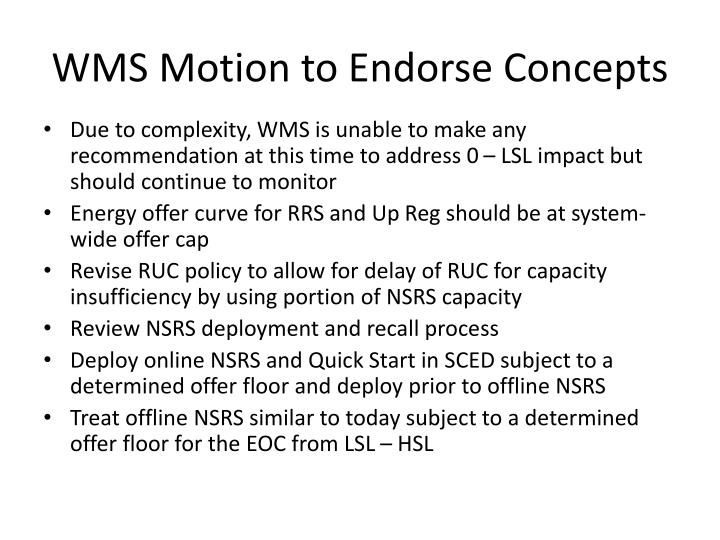 WMS Motion to Endorse Concepts