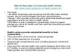 national association of community health centers http www nachc org about our health centers cfm