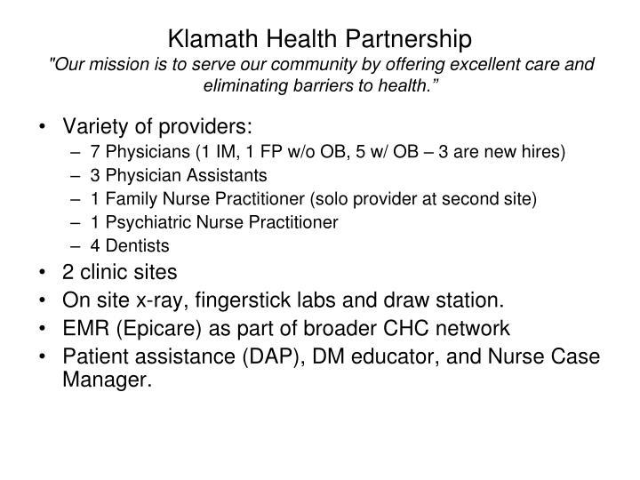 Klamath Health Partnership