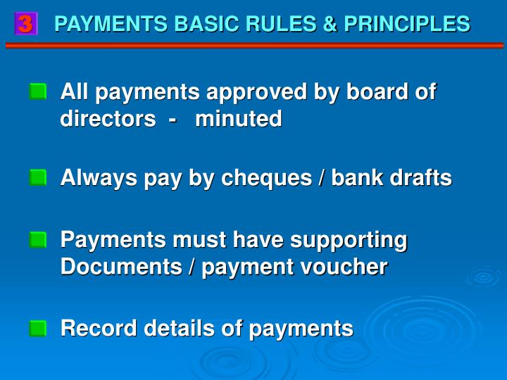 All payments approved by board of