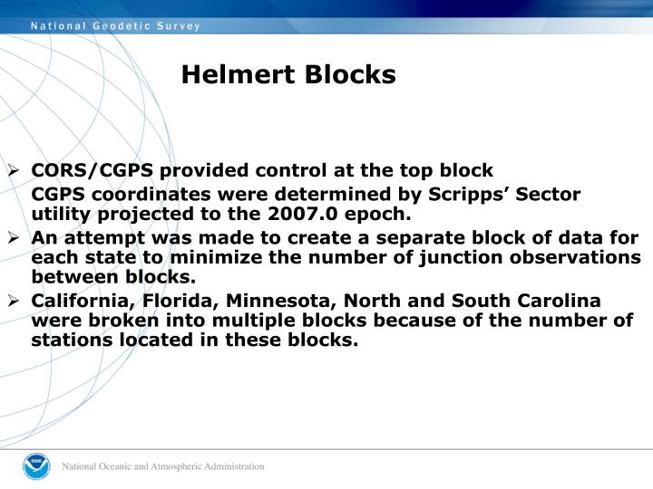 Helmert Blocks