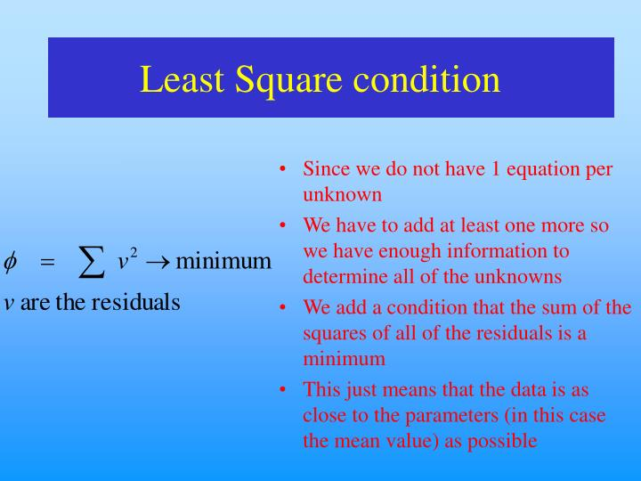 Least Square condition