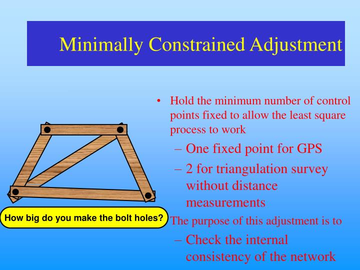 Minimally Constrained Adjustment