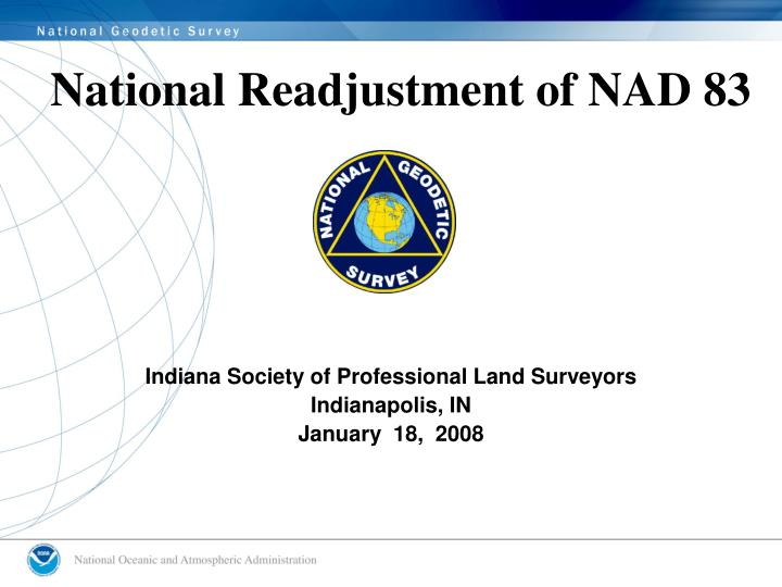 National readjustment of nad 83