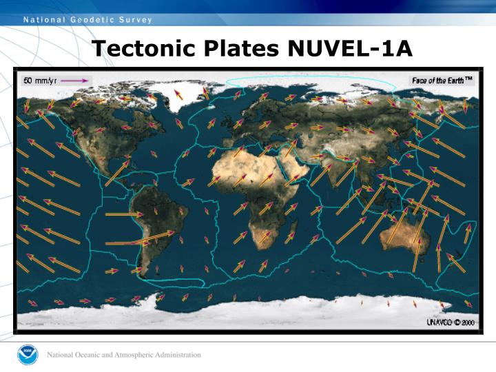 Tectonic Plates NUVEL-1A