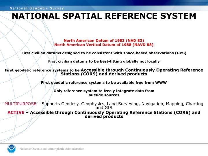 NATIONAL SPATIAL REFERENCE SYSTEM