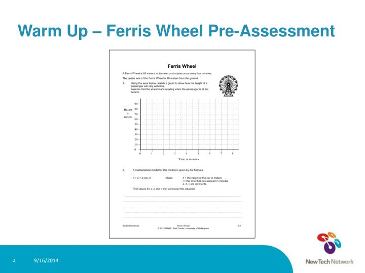 Warm up ferris wheel pre assessment