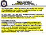fraternization examples dating cohabiting business ventures borrowing money