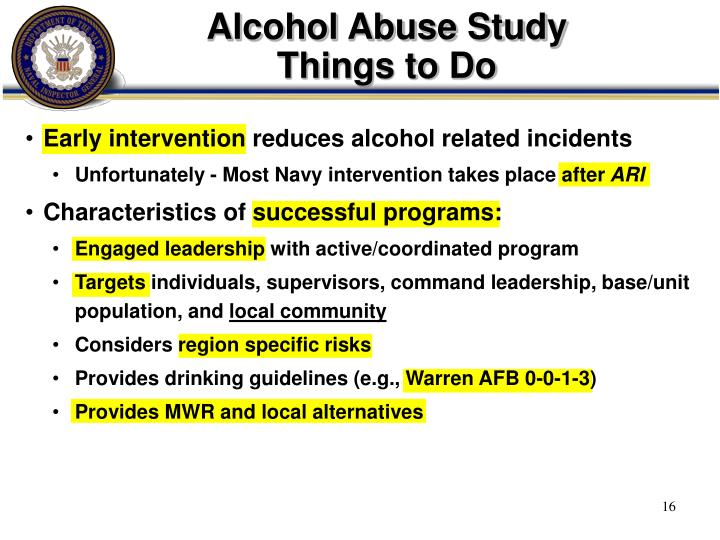 Alcohol Abuse Study
