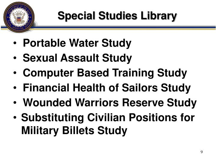Special Studies Library