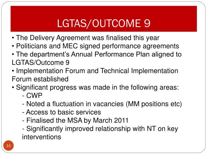 LGTAS/OUTCOME 9