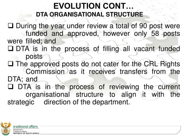 DTA ORGANISATIONAL STRUCTURE