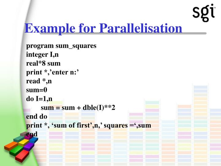Example for Parallelisation
