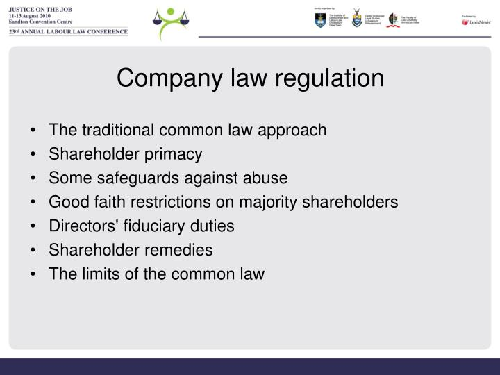 Company law regulation