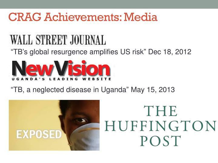 CRAG Achievements: Media