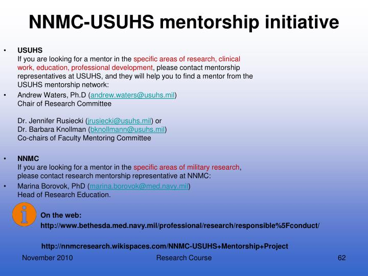 NNMC-USUHS mentorship initiative
