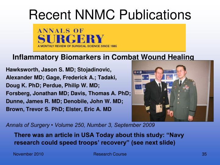 Recent NNMC Publications