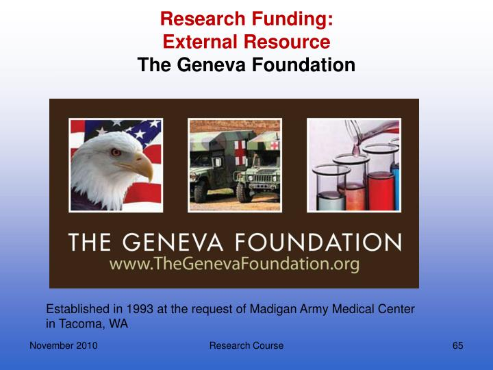 Research Funding: