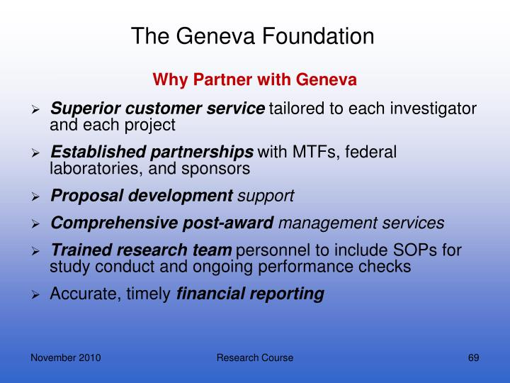 The Geneva Foundation