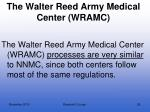 the walter reed army medical center wramc