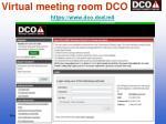 virtual meeting room dco