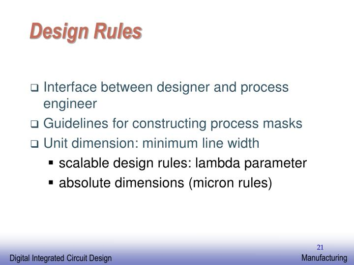 Design Rules