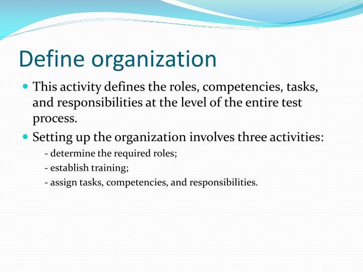 Define organization