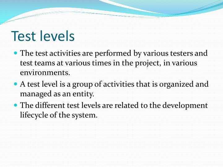 Test levels