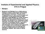 institute of experimental and applied physics ctu in prague