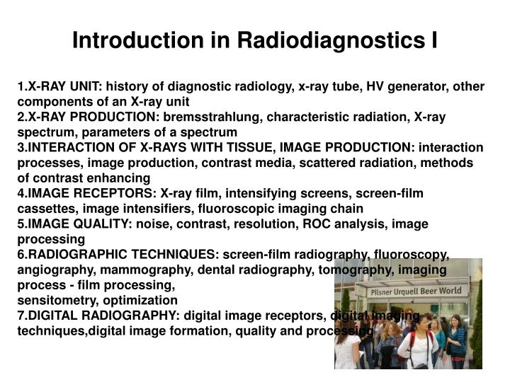 Introduction in Radiodiagnostics