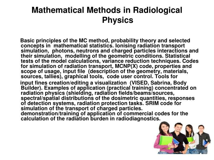 Mathematical Methods in Radiological