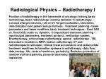 radiological physics radiotherapy i