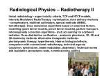 radiological physics radiotherapy ii