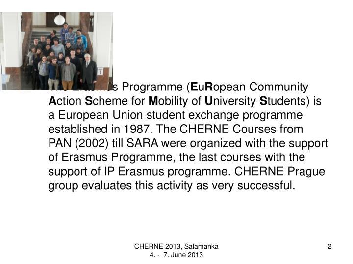 The Erasmus Programme (