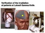v erification of the i rradiation of p atients at leksell gamma knife