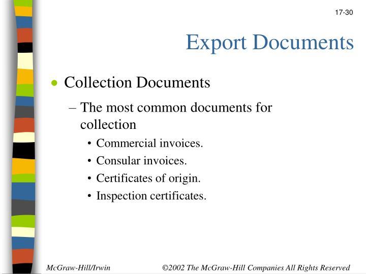 Export Documents