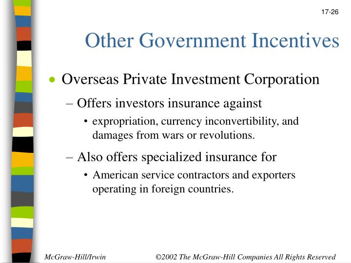 Other Government Incentives
