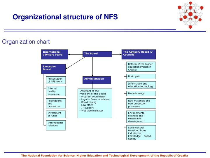 Organizational structure of nfs