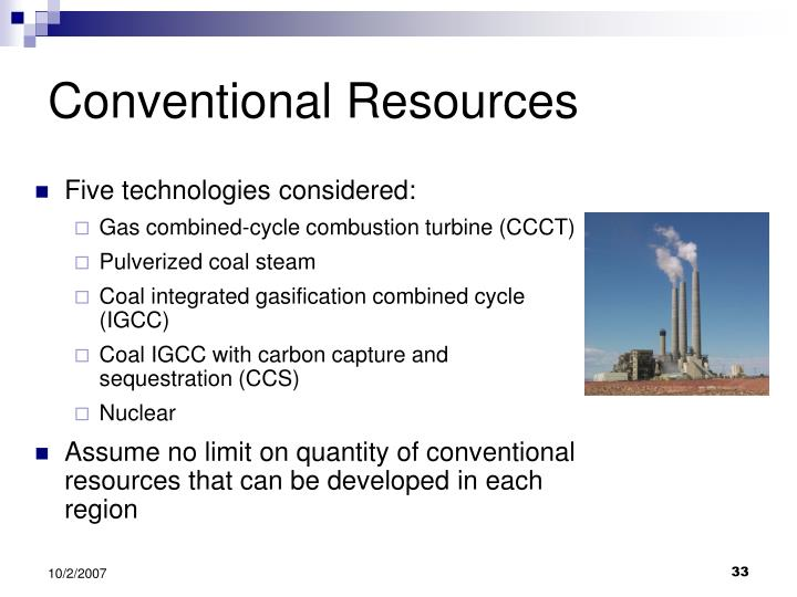 Conventional Resources