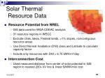 solar thermal resource data
