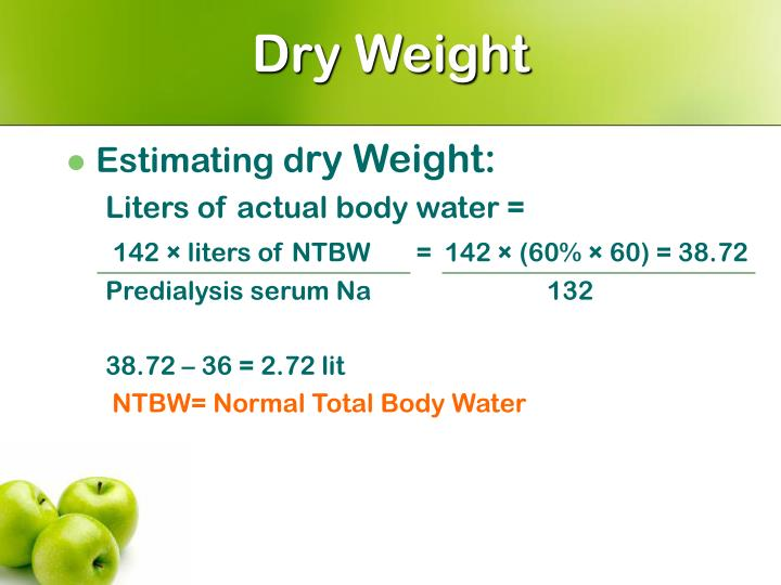 Dry Weight