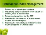 optimal pre esrd management