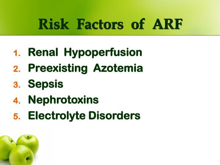 Risk  Factors  of  ARF