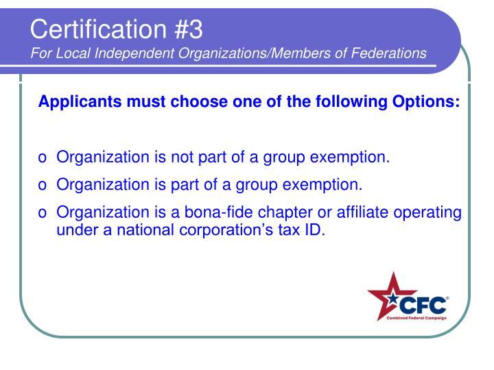 Certification #3