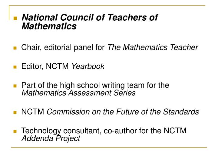 National Council of Teachers of Mathematics